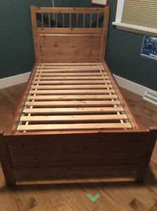 Twin Size Ikea Pine Bed