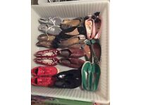 30 pairs of size 4 women's shoes