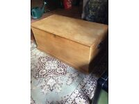 Pine blanket box / storage / Victorian