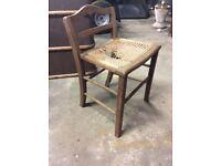 Oak Ratten bedroom chair