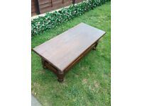 Dark oak solid wood table