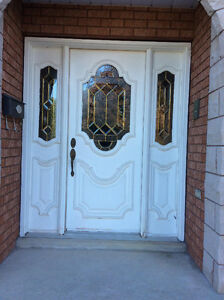 Beautiful Steel Door With Beveled Glass and SideLights & Frame Windsor Region Ontario image 2