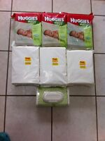 6 Packages of Huggies Natural Care Baby Wipes + Dispenser