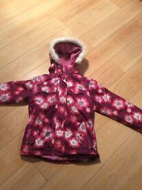 Girls Trespass Ski Jacket age 9/10