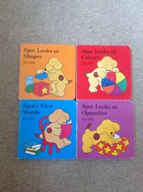 Set of 4 spot the dog books