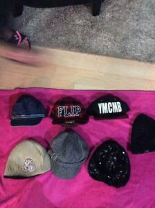 Assorted hats and touques  ten dollars or less