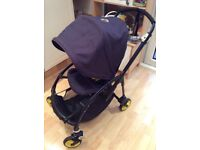 Bugaboo Bee plus neon special edition blue and yellow with raincover