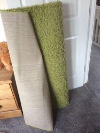 Pure wool shaggy rug