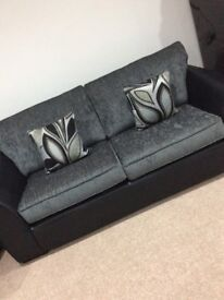 Snakeskin Black and Grey 3 Seater Sofa