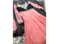 Beautiful Pink/Black anarkali dress