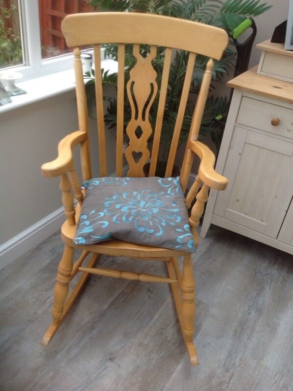 Stupendous Large Pine Kitchen Cottage Style Rocking Chair In Warsash Hampshire Gumtree Onthecornerstone Fun Painted Chair Ideas Images Onthecornerstoneorg