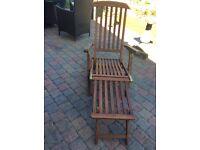 Woodern gardern sun steamer recliner