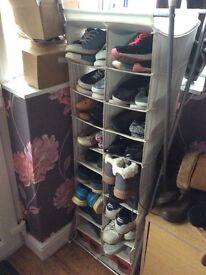 Canvas Framed Shoe Storage
