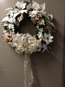 """White Christmas"" Wreath – Brand New and Handcrafted"
