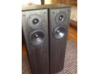 FLoorstanding speakers. Gale 4i sand filled bi wireable hi if speakers.