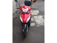Honda Vision NSC110 2013 1 YEAR MOT -- RED & BLACK ONLY 2600 MILES ON THE CLOCK STERLING