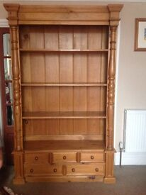 Large wooden bookcase great condition