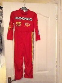 Disney Cars Lightening McQueen jumpsuit costume age 5-6 as new