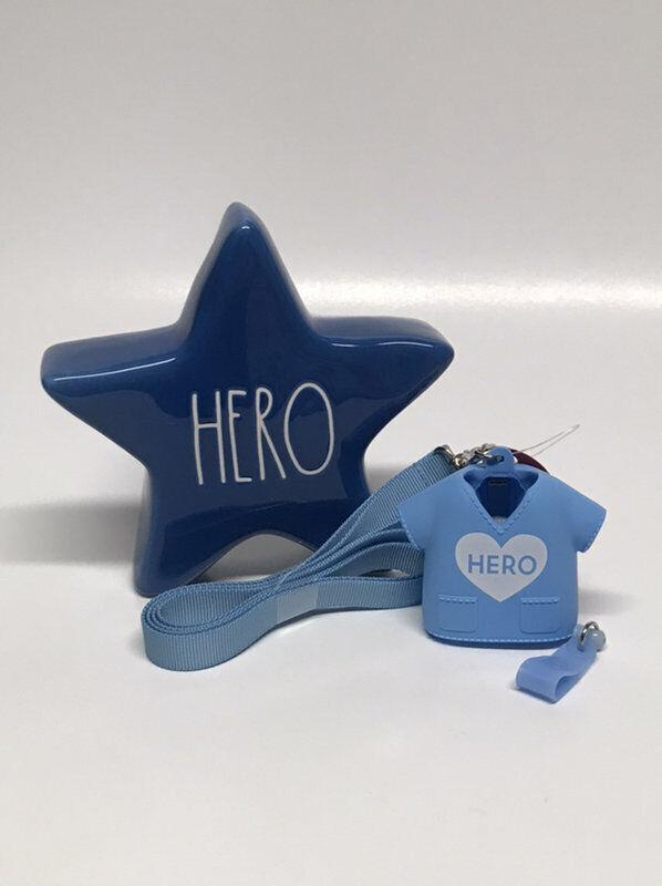 Bath & Body Works Hero Medical ID Clip Holder & Rae Dunn Star Set