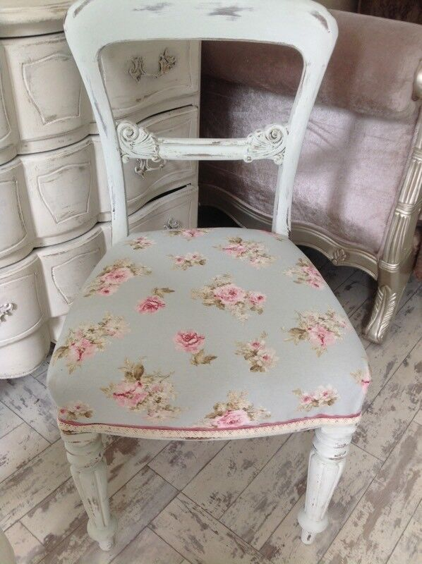 French ornate shabby chic chair