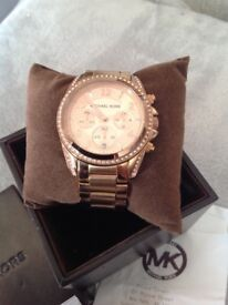 Rose Gold Michael Kors watch with receipt