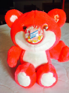 RETRO Stuffed Animal Toy - Nosey Bear - working popcorn in nose