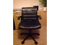 Real leather office executive chair