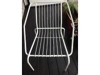 White metal garden or indoor chair