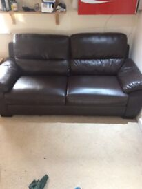 Large 2 seat sofa in brown