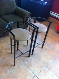 Two pub chairs