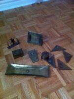Bureau antique brass desk accessories