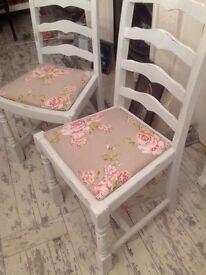 2 shabby chic chairs