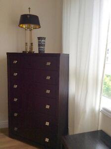 Expresso Tall Boy Dresser Set