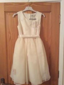 Ivory Flower Girl Dress age 9 to 10