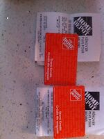 Home Depot cards