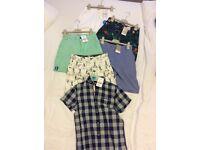 Next Boys Shorts x 5 and Shirt NEW! Age 9