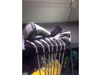 Taylormade r11 iron set Kbs stiff shafts 5 to sw and rocketballs driver stiff