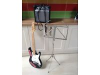 Shine Electric Guitar, Gear 4 Music 15W Amplifier & Music Stand