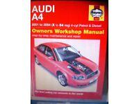Haynes Manual, Audi A4, 01-04