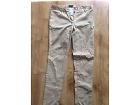 Size 14 H and M beige trousers