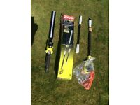 Ryobi 450watt hedge trimmer with extension poles (BRAND NEW)