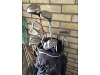Golf clubs & cart bag