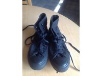 Converse All Black All Stars High Top Adult Size 7