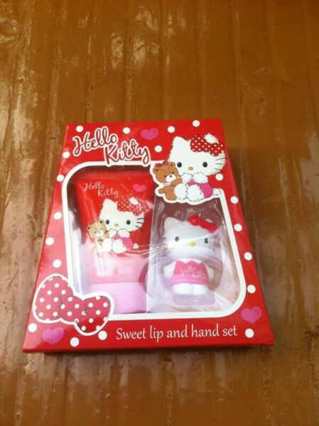 Hello Kitty Lip balm and hand cream set. New and never used.
