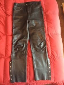 Firstgear Motorcycle Leather Overpants - Size 36 Tall