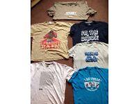 Bundle of men's slogan tshirts XL - Doctor, chubby, Las Vegas, plain lazy, I'm the daddy etc
