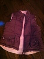 Girl fall/spring vest - size 6, but fits like 5T