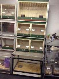 Pet display unit for sale birds and rabbits Guinea pigs