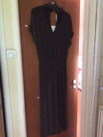 Black and Gold Jumpsuit Size 18 BNWT