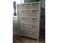 NEXT 6 drawer free standing shabby chic chest of drawers